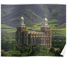 Logan Temple in Green Fields 20x24 Poster