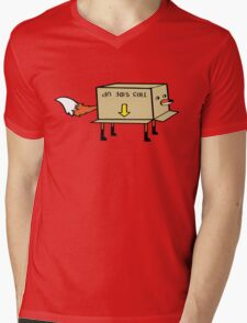 Fox Stuck in a Box Mens V-Neck T-Shirt