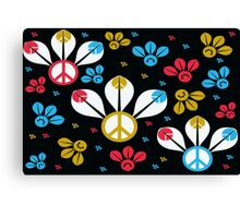 Peace Bumble Bees Canvas Print