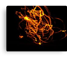 Fire mage Canvas Print