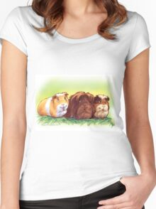 Good Luck Guinea Pigs I Women's Fitted Scoop T-Shirt