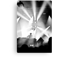Live on stage Canvas Print