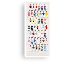 Football Kits of the World Canvas Print