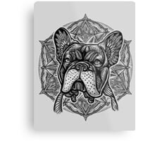 Frenchie Bulldog Mandala Metal Print