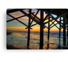 Apache Pier Sunrise Canvas Print