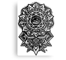 Eye of God Flower Mandala Metal Print