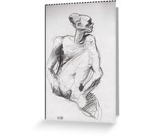 Drawing 2 about Nijinsky of Rodin Greeting Card