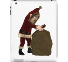 Santa Claus with Sack of Christmas Gifts iPad Case/Skin