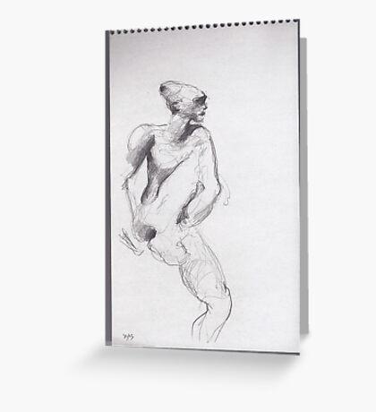 drawing 4 about Nijinsky of Rodin Greeting Card