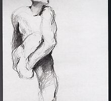 Drawing #5 = Nijinsky, The Afternoon of a Faun by Rodin by Pascale Baud