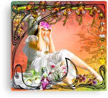 NOUVEAU ORCHID ~ DEDICATION TO GRANDMA ALBEE Canvas Print