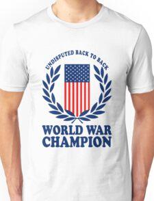 Undisputed world war champions geek funny nerd Unisex T-Shirt