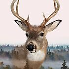 Whitetail Deer Double Exposure by DoucetteDesigns