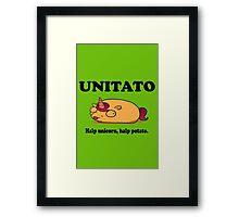 Unitato geek funny nerd Framed Print