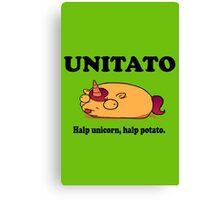 Unitato geek funny nerd Canvas Print