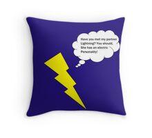 Lightning Pun Throw Pillow