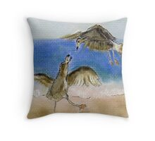 ©Long Island Seagulls Throw Pillow