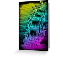 Caleuche Ghost Pirate Ship / Color Greeting Card
