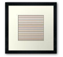 Golden tones horizontal linework Framed Print