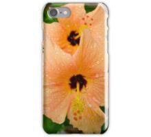 peach hibiscus_2 iPhone Case/Skin