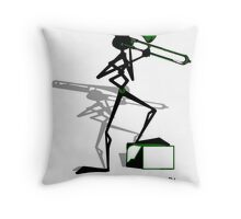 Trombonie- Muzik Stix Collection Throw Pillow