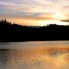 Sunset at Loch Ard by Stuart  Fellowes