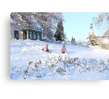 Winter fun.... Canvas Print
