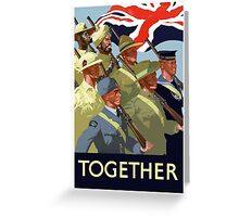 Together -- British Empire WWII Greeting Card
