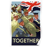 Together -- British Empire WWII Poster