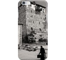 Old monk returning from Mount Athos iPhone Case/Skin