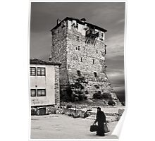 Old monk returning from Mount Athos Poster
