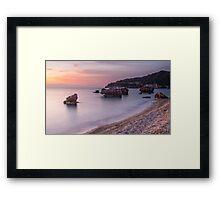 Poros Beach, Kefalonia Greece Framed Print