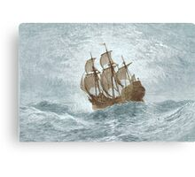 Ship on open water Canvas Print