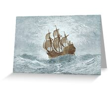 Ship on open water Greeting Card