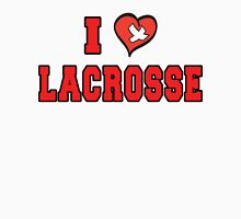 I Love Lacrosse Womens Fitted T-Shirt