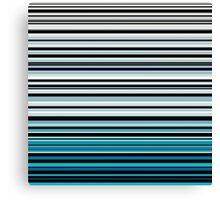 Abstract monochrome and blue horizontal linework Canvas Print
