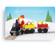 Santa's Train Canvas Print
