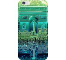 paris skyline abstract 5 iPhone Case/Skin