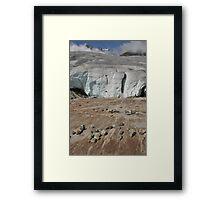 receding glacier Framed Print