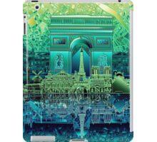 paris skyline abstract 5 iPad Case/Skin