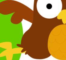 o for owl Sticker