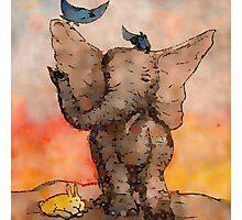 Elephant and Friends - Digital Remix Photographic Print