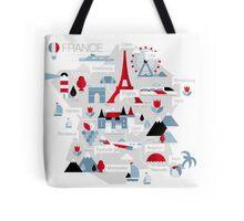 France Map Tote Bag