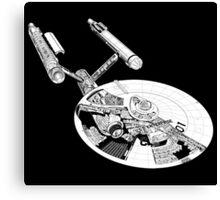 Star Trek - Enterprise - Blueprint  Canvas Print