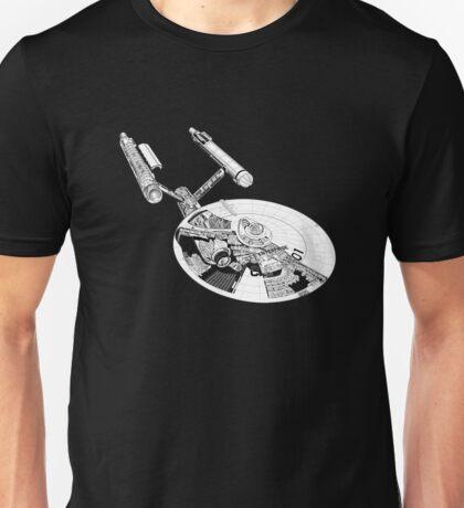 Star Trek - Enterprise - Blueprint  Unisex T-Shirt