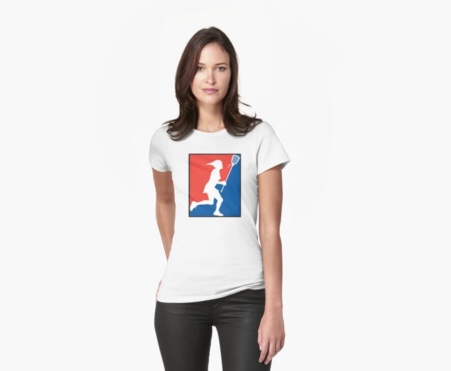 Girl's Lacrosse by SportsT-Shirts