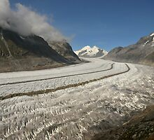 Altesch Glacier, Switzerland by Catherine Ames