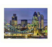 The City Of London - HDR Art Print