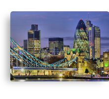 The City Of London - HDR Canvas Print