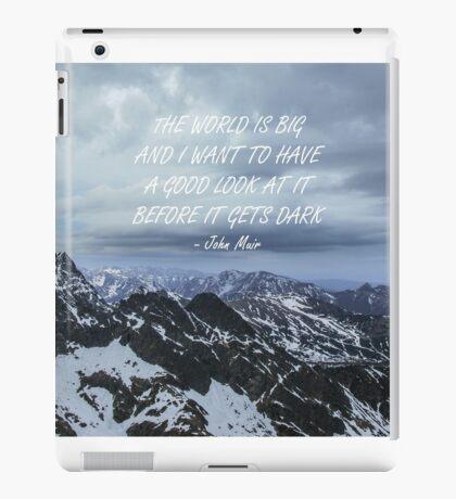The World is big iPad Case/Skin